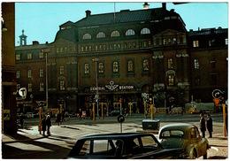 CPSM Suède. Stockholm. Central Station Lieux Où Vécu Lénine (paquebots Soviétiques) Jamais Circulé - Zweden