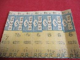 BUS/7  Tickets Anciens Usagés/RATP/Bleu/Code S /Série QE Vers 1950 - 1970            TCK133 - Europa