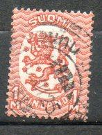 FINLANDE  1m Rouge Orange 1921-26 N° 106 - Oblitérés