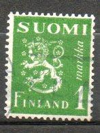 FINLANDE  1m Vert Jaune 1942 N° 256 - Oblitérés