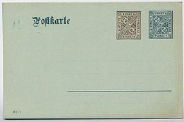 WÜRTTEMBERG DP38  Dienst-Postkarte 1908 Kat.15,00 € - Wuerttemberg