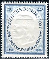 BRD - Mi 210 - ** Postfrisch (A) - 40Pf                         Friedrich Von Schiller - BRD