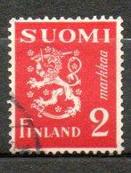 FINLANDE  2m Rose Rouge 1937 N° 192 - Oblitérés
