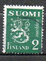 FINLANDE  2m Vert 1945-48 N° 288 - Oblitérés