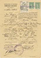 35904. Documento Certificado De Residencia  Fiscal BARCELONA 1956. Sello Municipal Y Poliza - Revenue Stamps