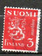 FINLANDE  2m Rouge Carmin 1945-48 N° 291 - Oblitérés