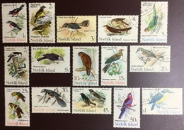 Norfolk Island 1970 Birds Set VFU Never Hinged - Vögel