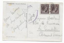LUXEMBOURG - 1945 - LIBERATION - CARTE Avec CENSURE ANGLAISE => FRANCE - Brieven En Documenten