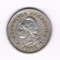 10 CENTAVOS 1897 ARGENTINIE /1500// - Argentinië