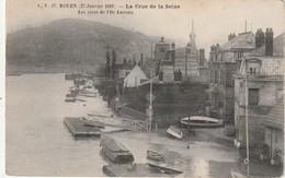 76 Rouen. Crue De La Seine. Les Rives De L'Ile Lacroix - Rouen