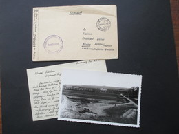 Böhmen Und Mähren 1943 Flugzeugführerschule 113 Schülerkomp. Absender Flieger In Zlin Flugkommando Otrokowitz - Briefe U. Dokumente