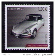 ANDORRA FRANCESA 2015 - AUTOMOVIL CITROEN DS 21 - 1 STAMP - Unused Stamps
