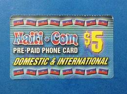 HAITI CARTA SCHEDA TELEFONICA PREPAGATA USATA USED PREPAID PHONE CARD $ 5 - Haïti