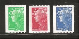 France, Roulette, Autoadhésif, Adhésif, 219, 220, 221, Neuf **, TTB, Marianne De Beaujard - 2008-13 Marianne Of Beaujard