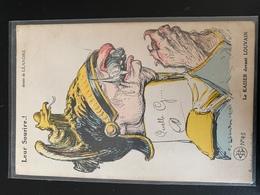 Le Kaiser Devant Louvain. Leur Sourire ! Dessin De Léandre - Humor