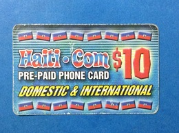 HAITI CARTA SCHEDA TELEFONICA PREPAGATA USATA USED PREPAID PHONE CARD $ 10 - Haïti