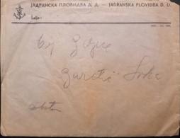 Old  Official Mailed Envelope JADRANSKA PLOVIDBA D.D. Susak Sussa Sussak Fiume& Orig. Letter Inside 1936. - Documents Historiques