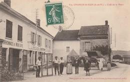 CPA:CHANGIS SAINT JEAN (77) ATTELAGE PERSONNES CAFÉ DE LA POSTE E. COTTRAY .ÉCRITE - Francia