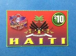 Carta Scheda Telefonica Prepagata Usata HAITI Prepaid Calling Card Used $ 10 - Haiti