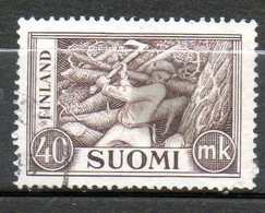 FINLANDE  40m Brun Gris 1952 N° 387 - Finlande