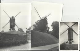 Moulin à Vent - Windmolen - 3 Foto's Van Windmolens (2 Van 14 X 9 Cm En 1 Van 6 X 8.5 Cm) - Windmolens