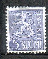 FINLANDE  5m Violet 1945-48 N° 293 - Finlande