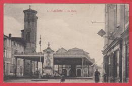 CPA-31-CAZÈRES- Le Halle - ANimation - Ed. Gd Bazar De L'HdV * 2 SCAN- - Autres Communes