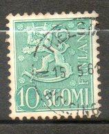 FINLANDE  10m Vert Jaune 1952 N° 384 - Finlande