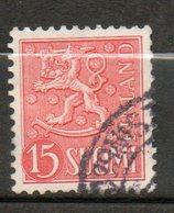 FINLANDE  15m Rouge 1952 N° 385 - Finlande
