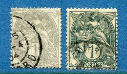France - YT N° 107 - Oblitéré - Deux Nuances Différentes - 1900 à 1924 - Usati