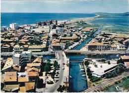 34 : PALAVAS-les-FLOTS : Vue Aérienne :  Panoramique - ( C.p.s.m. Photo. Véritable - Grand Format ) - Palavas Les Flots