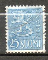 FINLANDE  25m Bleu Clair 1952 N° 386 - Finlande