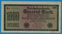 DEUTSCHES REICH 1000 Mark Code MM  15.09.1922# Ea 358586  P# 76h - 1000 Mark