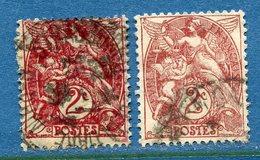 France - YT N° 108 - Oblitéré - Deux Nuances Différentes - 1900 à 1924 - Usati