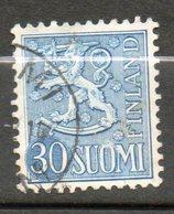 FINLANDE  30m Bleu 1954-58 N° 415a - Finlande