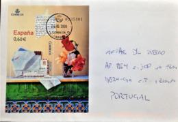 "Spain, Circulated Cover To Portugal,  ""Europa Cept"", ""Written Letters"",  2008 - 1931-Hoy: 2ª República - ... Juan Carlos I"