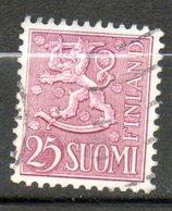 FINLANDE  25m Lilas 1959 N° 480 - Finlande