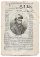 Journal Le Clocher N°21 Du 20/11/1875 Jean Loyseau - Gutenberg - Nouvelles De Rome ... - 1850 - 1899
