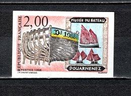 FRANCE  N° 2545   NON DENTELE  NEUF SANS CHARNIERE  COTE 20.00€    MUSEE BATEAUX - Imperforates