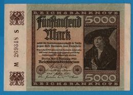 DEUTSCHES REICH 5000 Mark 02.12.1922# M269348S  P# 81a - 5000 Mark