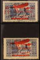 1929 - 30 15p On 25p Bright Blue (signed Kessler) And 25p Bright Blue, SG 155/6, Airmails, Very Fine Mint. Scarce And El - Lebanon