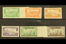 1943 2nd Anniversary Of Independence IMPERFORATE Airmail Set, Maury 82/7, Never Hinged Mint. Cat E475 = £330+ (6 Stamps) - Lebanon