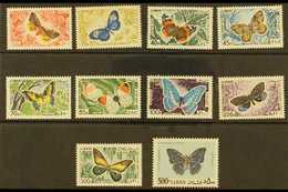 1965 Air Butterflies Complete Set, SG 873/82, Never Hinged Mint. (10 Stamps) For More Images, Please Visit Http://www.sa - Lebanon