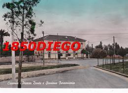 CASORIA - PIAZZA DANTE E STAZIONE FERROVIARIA  F/GRANDE VIAGGIATA 1959 - Casoria