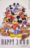 TC JAPON / 110-208304 - DISNEY N° 8 - NOUVEL AN - HAPPY NEW YEAR 2000 - Mickey Minnie & Famille - JAPAN Phonecard - Disney