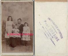CDV  Une Famille-rare Paul ROZAIRE à Le Blanc (Indre) - Old (before 1900)