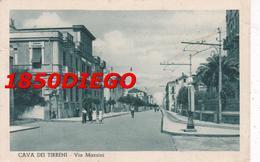 CAVA DEI TIRRENI - VIA MAZZINI F/PICCOLO VIAGGIATA 1938 ANIMATA - Cava De' Tirreni