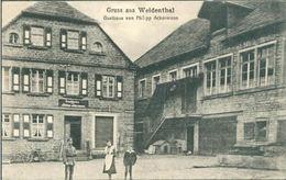 CPA AK GRUSS AUS WEIDENTHAL GASTHAUS VON PHILIPP ACKERMANN RHEINLAND ED. ALTHERR  1919 - Allemagne