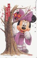 TC JAPON / 110-203011 - DISNEY N° 6 - NOUVEL AN NEW YEAR 1999 - MINNIE - JAPAN Phonecard - Disney