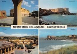 Cartolina Civitavecchia Repubblica Dei Ragazzi Vedute Villaggio Sul Mare - Roma